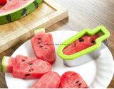 Trancheuse de fruit, outil créateur Esg10188 de moulage de coupeur de melon de forme de Popsicle de crême glacée de trancheuse de pastèque de Doinshop