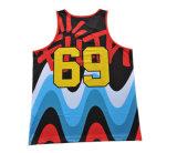 Lo sport Jersey della maglia di svago di alta qualità con il reticolo ha stampato (TT5007)