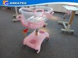 Hospital de acero inoxidable de 1 cama manivela manual de niño, Baby Cuenca Eith Cuna