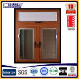 Cor de madeira Windows vitrificado dobro de alumínio para o indicador de alumínio da inclinação e da volta