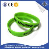 Wristband do silicone da faixa de borracha do presente do ofício para a decoração