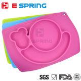 BPAはかわいいかたつむりデザイン環境に優しいシリコーンの赤ん坊の版Placematを放す