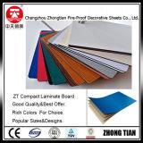 Laminado decorativo de la alta presión de los colores sólidos