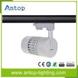 Muy caliente 30W blanco / negro LED COB Track Light para joyería