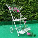 Bacs chauds de planteur de bicyclette de fer travaillé de vente pour le décor de jardin