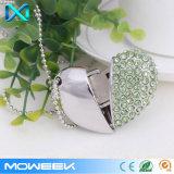 Crystal Heart Jewelry Storage USB Flash Drive