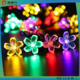 Lâmpada colorida solar à prova d'água solar com flores agradáveis