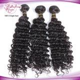 Cabelo cru que tece o Weave cambojano do cabelo da onda profunda