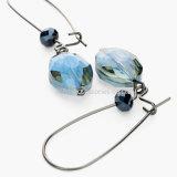 Oorringen van de Nagel van de Oorringen van het Kristal van de manier de Gevoelige Elegante Blauwe voor de Levering voor doorverkoop van Vrouwen
