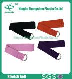 練習及びDリングが付いている適性のヨガストラップの綿のヨガストラップを伸ばすこと