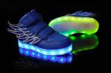 LED que desgasta la luz de las zapatillas de deporte LED del LED para los zapatos de los cabritos