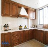 Amerika-Art L Form-hölzerner Küche-Schrank