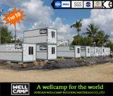Wellcamp складывая передвижную дом контейнера для вмещаемости