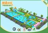 Sosta gonfiabile di lusso dell'acqua del parco di divertimenti gonfiabile per estate