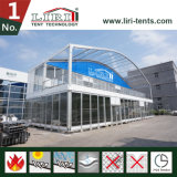 Шатер VIP двойного Decker 2 этажей с верхней частью купола и стеклянной стеной