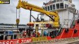 grue marine hydraulique extraterritoriale télescopique de boum de 3t@40m Extention
