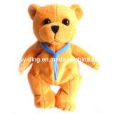 Urso ruim pequeno com laço de borboleta
