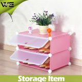 Mobiliário de Quarto Display Rack Plastic Modern Shoe Storage Cabinet