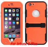 Cas résistant antichoc extérieur de couverture arrière de téléphone mobile d'épreuve de neige pour le cas positif de l'iPhone 6 (RPDOT6P)