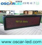 屋外の防水P10赤いLEDの印のモジュールか普及したスクローリングプログラム可能なLED印