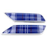 Chrome speed-wave Blue Replacement simmer Lamp Cover for Mini Cooper