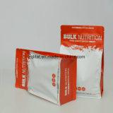 Nahrungsmittelgrad-flacher quadratischer unterer Stützblech-Beutel Matt-BOPP kundenspezifischer, flache Unterseiten-Fastfood- Beutel