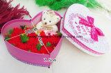 Il fiore artificiale conservato naturale di giorno di madri per i regali ha conservato il garofano fresco bianco del fiore fresco per i favori di partito di festa che Wedding
