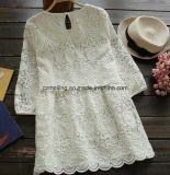 Weißes Restonic Twinset Frauen-Kleid