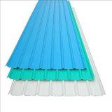 Prix ondulé enduit de feuille de toiture de PC d'excellente lumière colorée