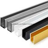 Perfil de extrusão de alumínio em forma de U de seção grande personalizada 6063-T5