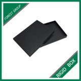 Caixa de presente preta da jóia do cartão com tampa