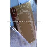Qualité 304 de la feuille 201 d'acier inoxydable de fini de miroir d'or de Rose