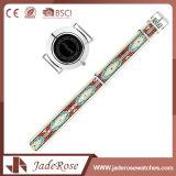Grande montre-bracelet de mode de quartz d'acier inoxydable de cadran de dames