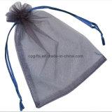 Saco de organza não tecido de cetim de nylon com cordão personalizado