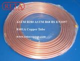 Tubo de cobre de ASTM B280 China para la HVAC