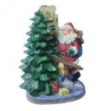 De Kerstboom van de Hars van de Bouw van Kerstmis van Polyresin