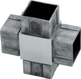 Guarniciones modernas inoxidables del hardware de la barandilla de la barandilla de la escalera de la pieza de acero fundido que conectan el pedazo