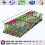 Magazzino industriale della tettoia della struttura d'acciaio di alta qualità da vendere