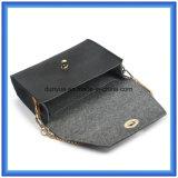 Bolso ocasional de papel modificado para requisitos particulares diseño de moda del mensajero de Du Pont, bolso cosmético que hace compras de la promoción de las señoras de papel calientes de Tyvek con la correa de oro del metal del color