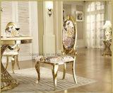 Hoge het Dineren van het Kussen van de Zetel van de Stof van het Meubilair van het Huis van het Eind Antieke Ovale AchterStoelen