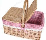 Cestino di vimini vuoto rettangolare di picnic di nuovo disegno