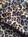 ヒョウによって印刷されるプラシ天の毛皮100%Polyester