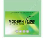 1.56 Obiettivo di plastica Hc di Photobrown della parte superiore piana