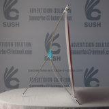 Stand de la minute X, stand de drapeau de X, étalage de partie supérieure du comptoir, stand de X (A3)