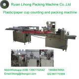 Copo de café descartável da Triplo-Fileira Lh-450 que conta e máquina de empacotamento