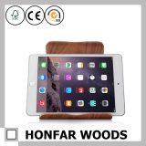 큰 크기 검은 호두나무 목제 기술 iPad 홀더