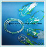 Máscara de oxígeno disponible del grado médico de la buena calidad que conecta el catéter del PVC
