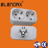 UE eléctrica bidireccional del adaptador 230/250V blanca/negro (P8812)