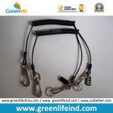 Heiße verkaufende schwarze starke aufgerollte Hochleistungssicherheit Ropes W/Hooks