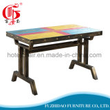 Favorable mesa de café de colores de hierro en Foshan